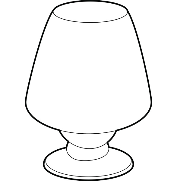 floor lamp icon outline style