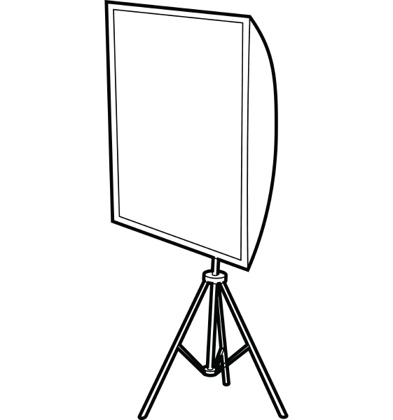 softbox icon outline style