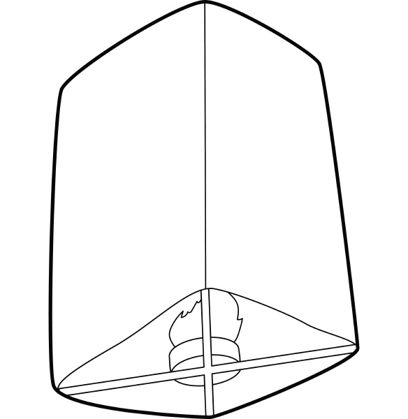 chinese lantern icon outline style
