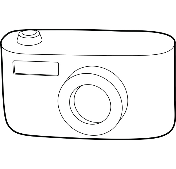 camera icon outline style