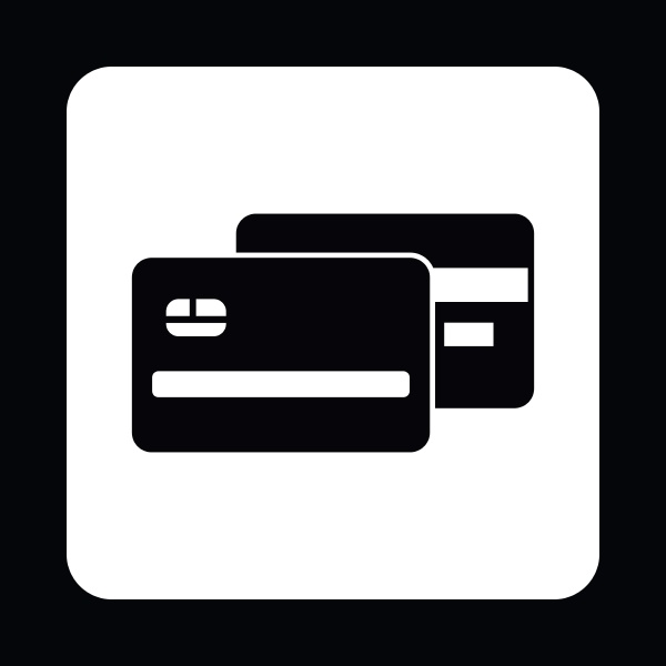 credit card icon simple style