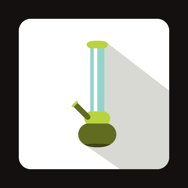 bong for smoking icon flat style