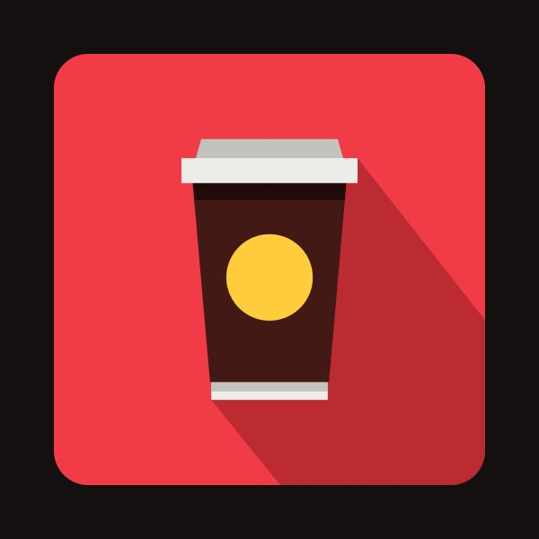coffee in take away cup icon