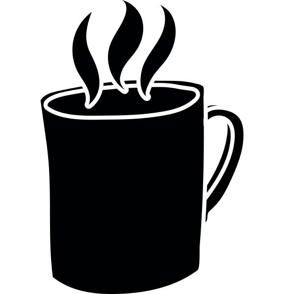 mug of hot drink icon simple