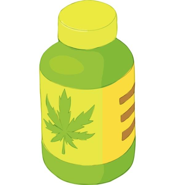 jar of marijuana icon cartoon style