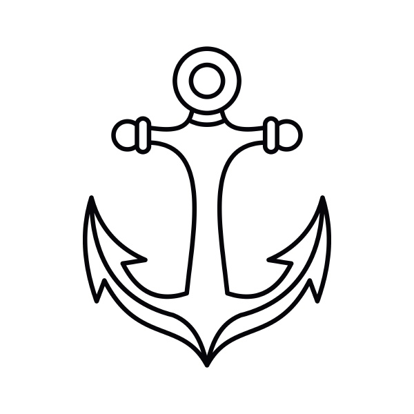 anchor icon outline style