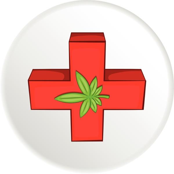 medical marijuana icon cartoon style