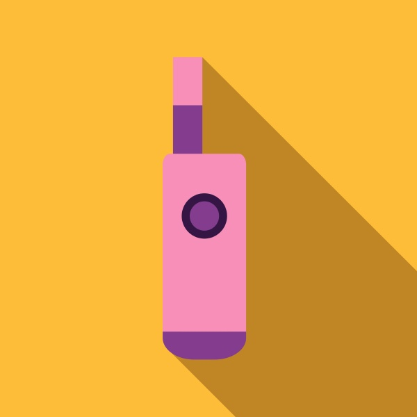 pink electronic cigarette icon flat style
