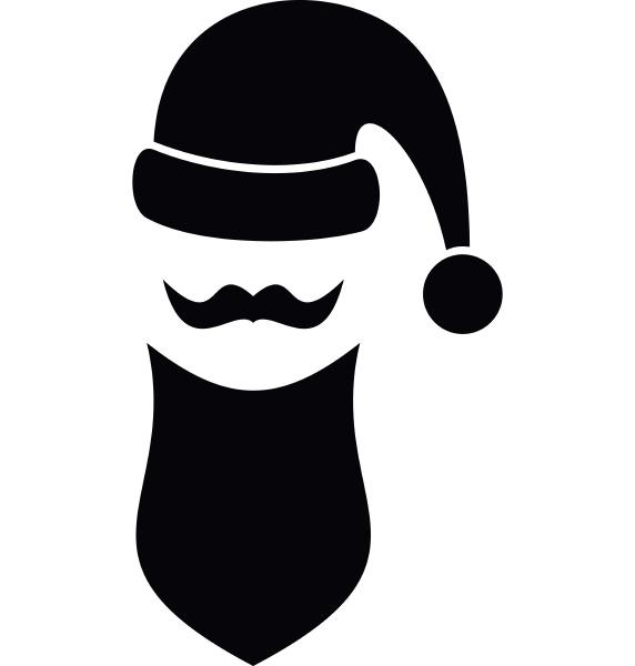 santa hat mustache and beard