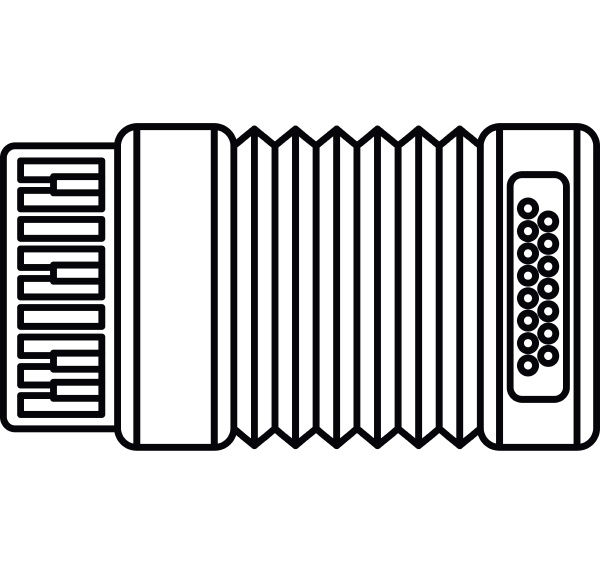 accordion icon outline style