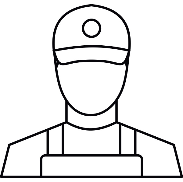 courier icon outline style