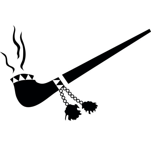 smoking pipe icon simple style