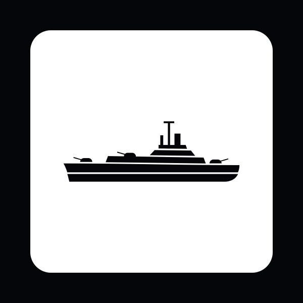 military navy ship icon simple