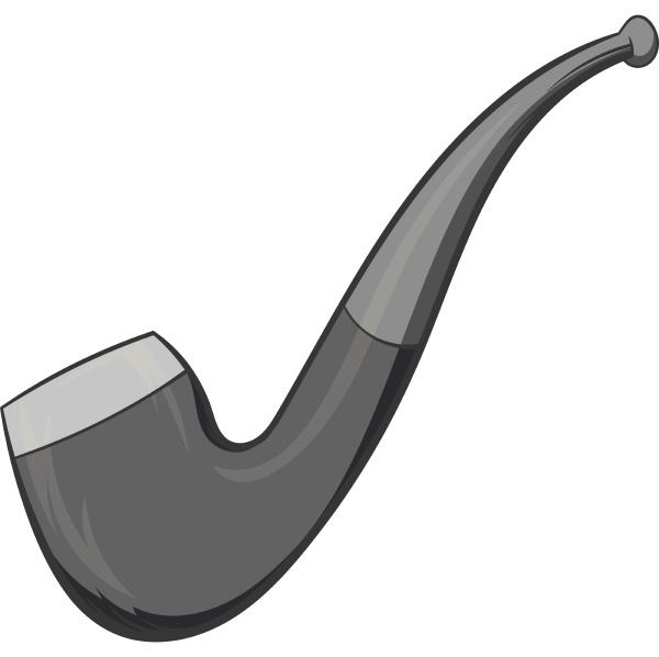 smoking pipe icon black monochrome style