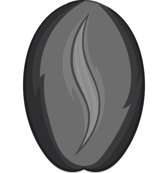 coffee bean icon black monochrome style