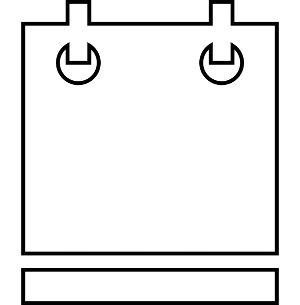calendar icon outline style