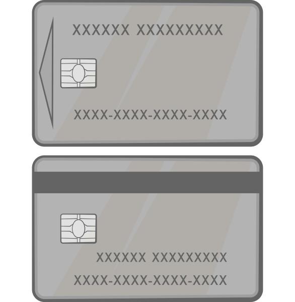 credit card icon black monochrome