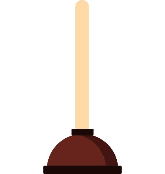 plunger icon flat style