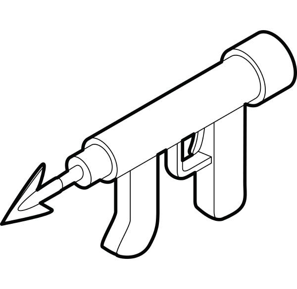 underwater speargun icon outline style