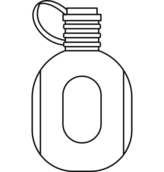 flask icon outline style