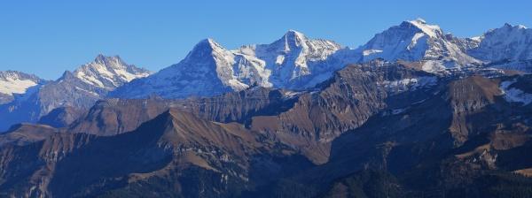 mountains finsteraarhorn eiger monch and jungfrau