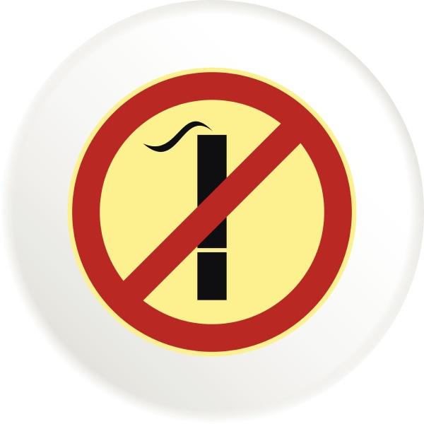smoking is prohibited icon flat style