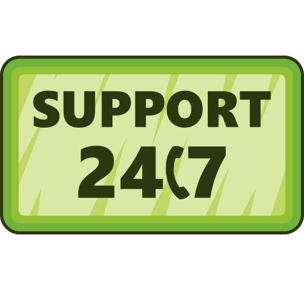 all day support icon cartoon style