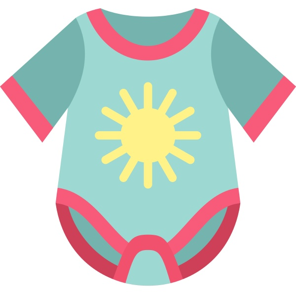 baby bodysuit icon flat style