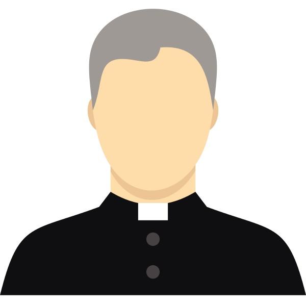 catholic priest icon flat style