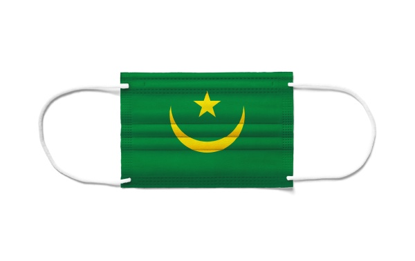 flag of mauritania on a disposable