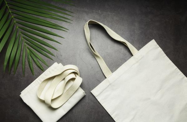 white tote bag canvas fabric cloth