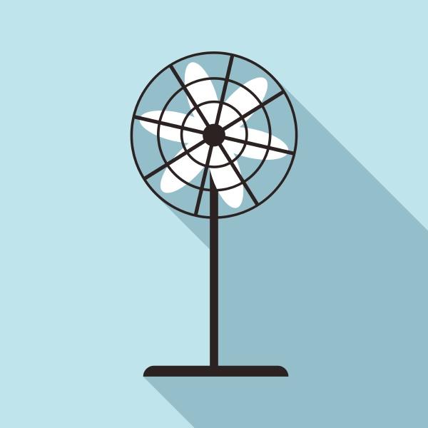 fan icon flat style