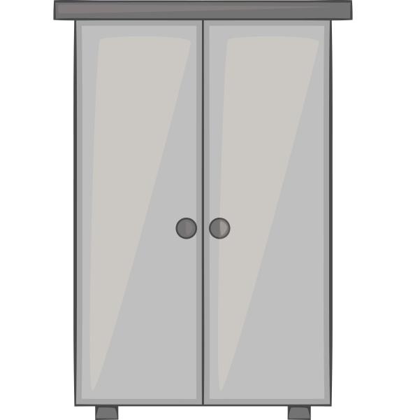 wardrobe icon gray monochrome style