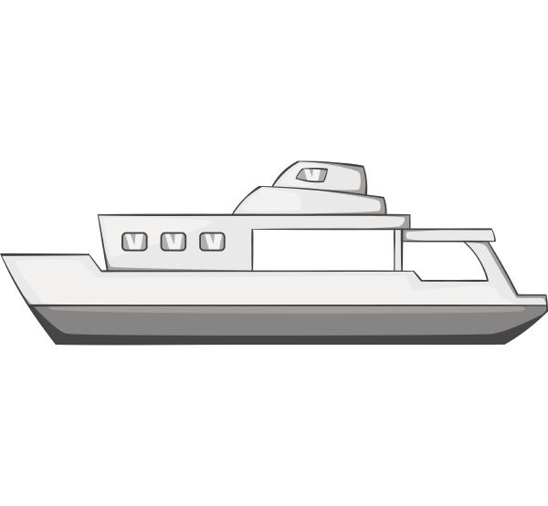big ship icon gray monochrome style