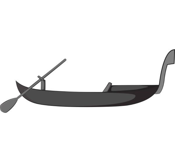 gondola icon gray monochrome style