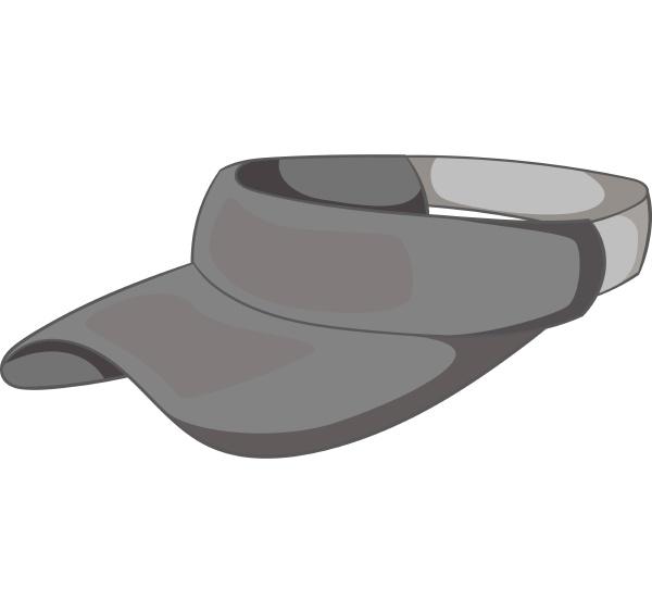 sun cap icon gray monochrome style
