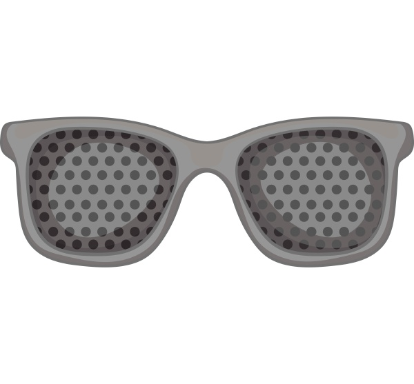 perforating glasses icon gray monochrome style