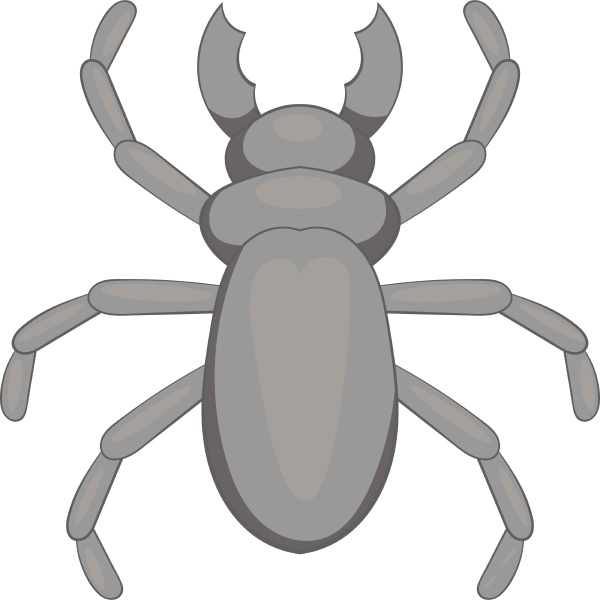 rhinoceros beetle icon cartoon style
