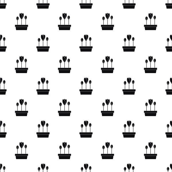 tulips in planter pattern simple style