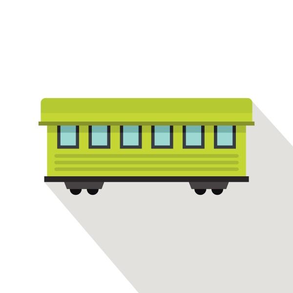 passenger train car icon flat