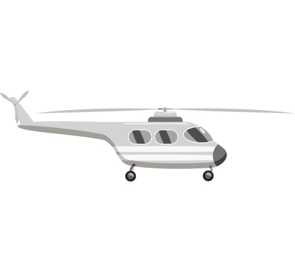 helicopter icon gray monochrome style