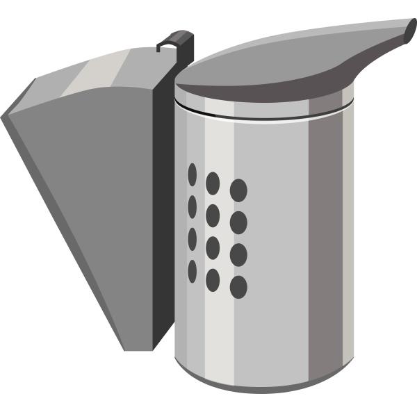 beekeeping smoker icon gray monochrome style