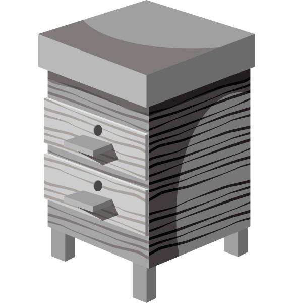 beehive icon gray monochrome style