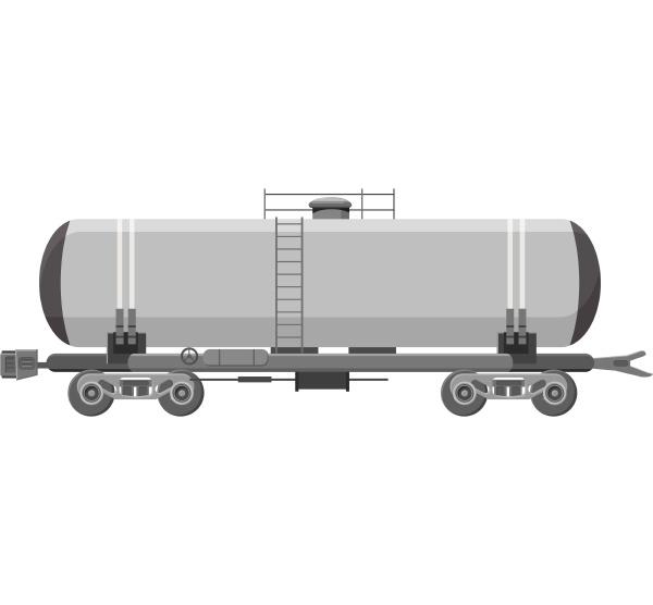 tank car for gasoline icon gray