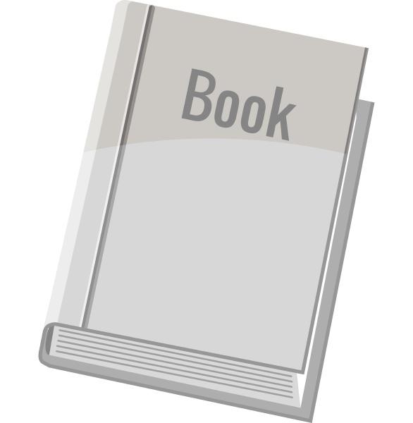 book icon gray monochrome style