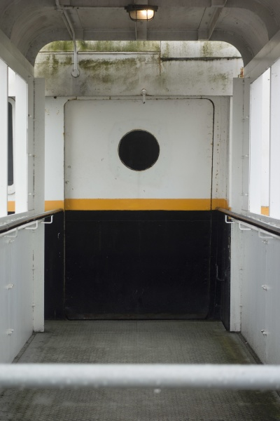 rail or railing on a ship