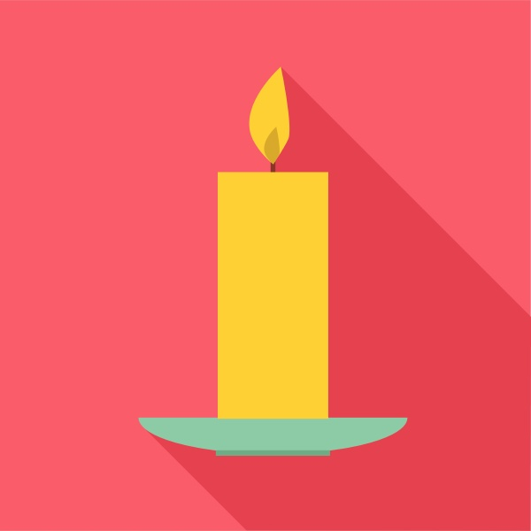 candle icon flat style