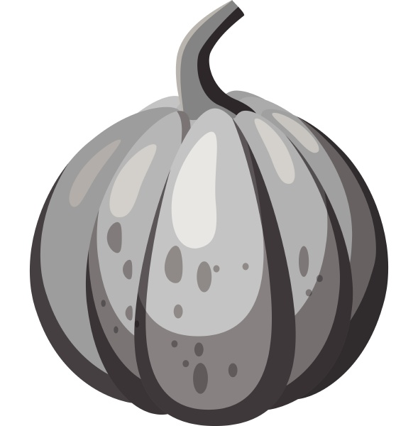 pumpkin icon gray monochrome style