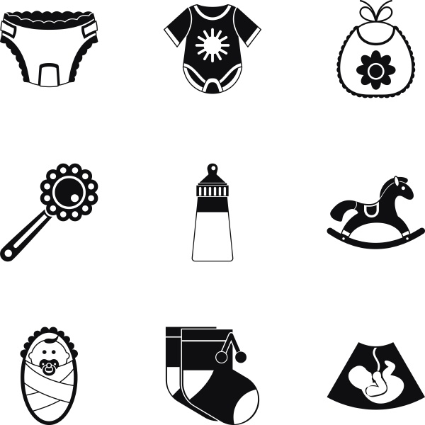 child icons set simple style