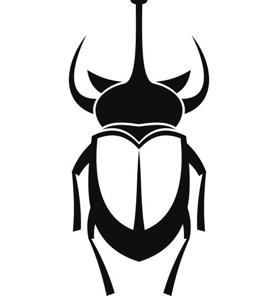 weevil beetle icon simple style